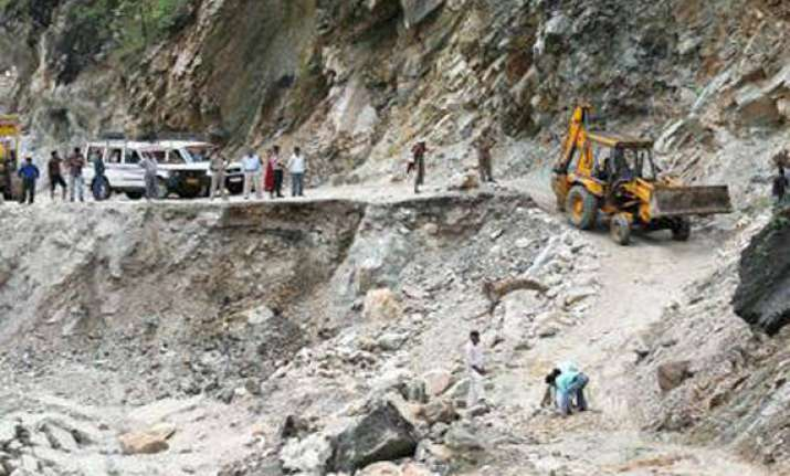 landslide damages nh connecting rishikesh and kedarnath