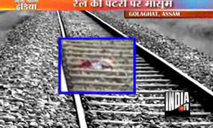 left to die on assam rail track infant survives after two