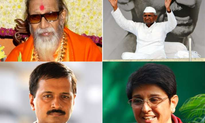 let kejriwal bedi sisodiya fast bal thackeray to hazare