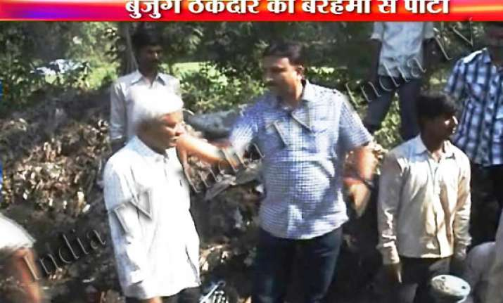 live video of mns councillor bashing up aged contractor in