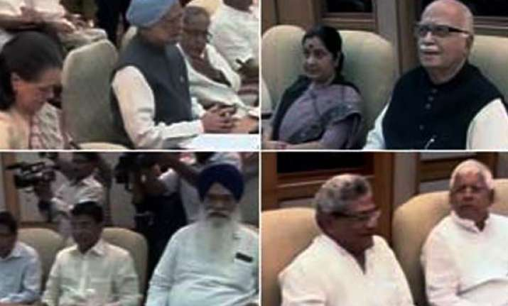 all party meet agrees on strong lokpal bill in monsoon