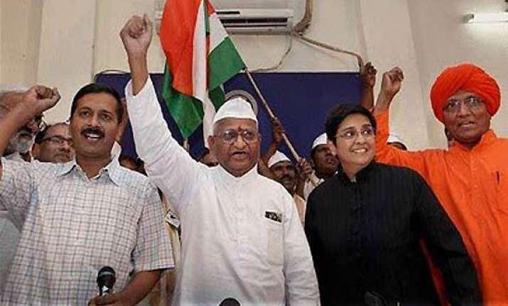 team hazare meets advani bardhan