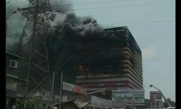 fire at commercial building in surat brought under control