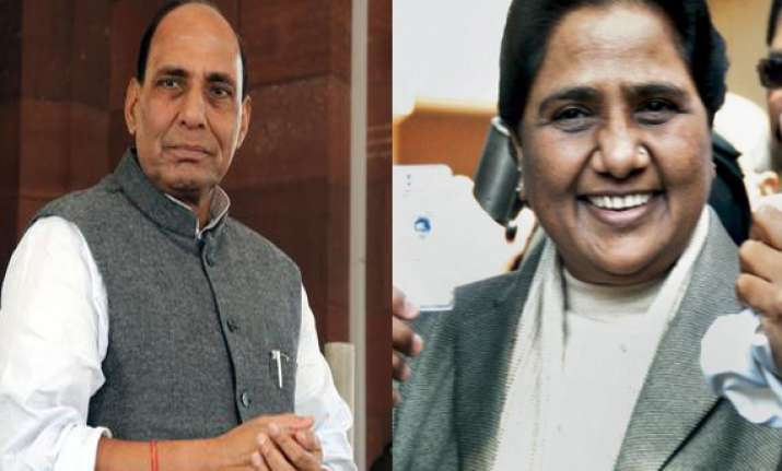 making mayawati cm with our support a mistake says rajnath