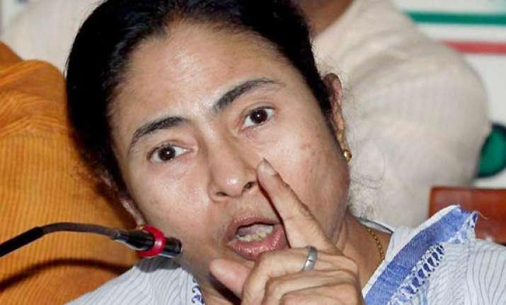 mamata blames congress cpi m for panchayat poll violence