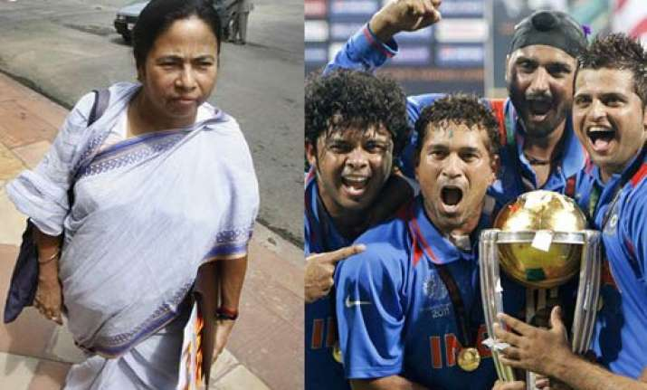 mamata asks govt to declare national holiday for world cup