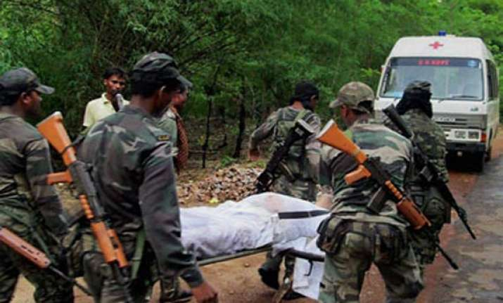 maoist attack final rites of nand kumar patel son performed
