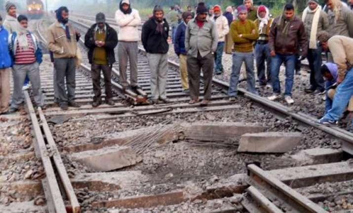 maoist bandh railway tracks blown up mobile tower set afire