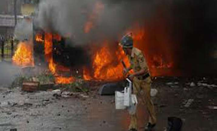 maoists torch bjp mla s petrol pump attack his home in bihar
