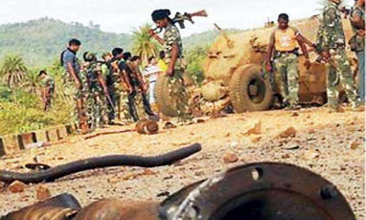 four bsf officers killed 2 injured in maoist ied blast in