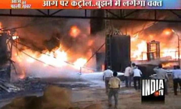 massive blaze guts oil mill in varanasi