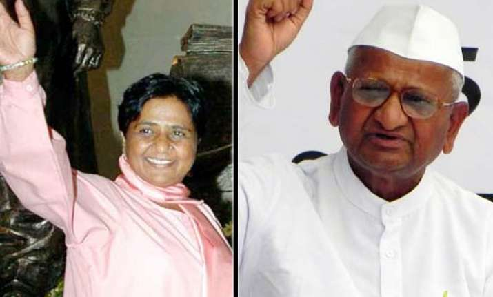 mayawati extends support to anna hazare s movement