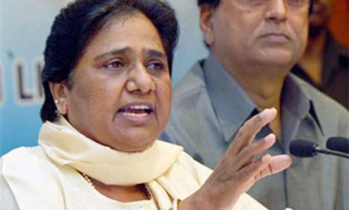 mayawati files nomination for rajya sabha