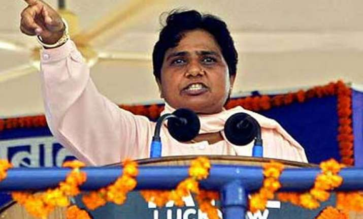 mayawati lashes out at bjp over booklet on fake scams