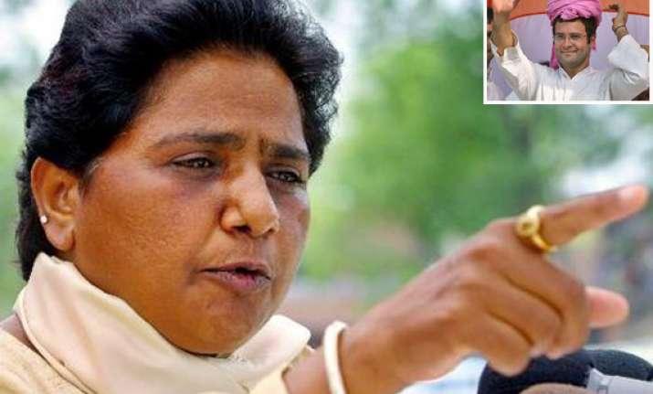 mayawati says rahul is desperate about up polls
