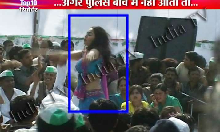 meerut teenagers mob tear up dancer s dress at ajit singh s