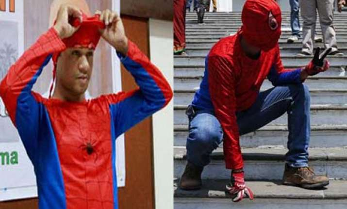 meet mp aspirant indian spiderman gaurav sharma