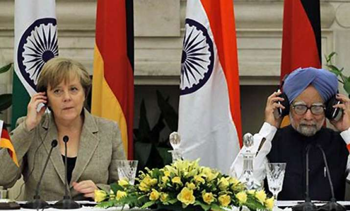 merkel pitches for eurofighter typhoon