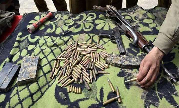 militants hideout unearthed in manipur arms seized