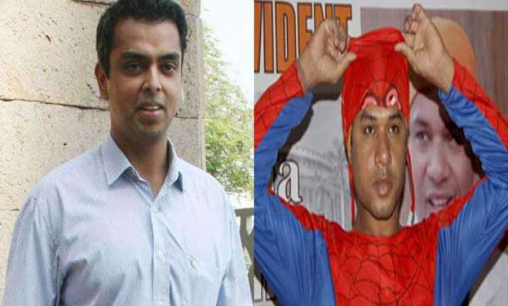 ministers spiderman iim graduate file nominations in mumbai