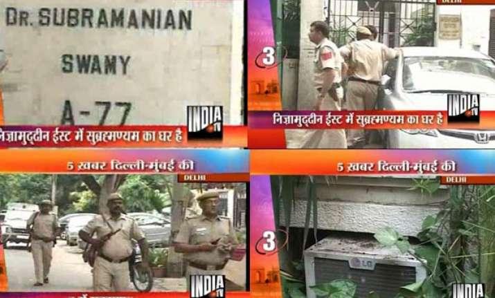 miscreants ransack subramanian swamy s delhi residence