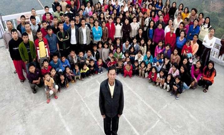 mizo man has 39 wives 94 children 33 grandchildren