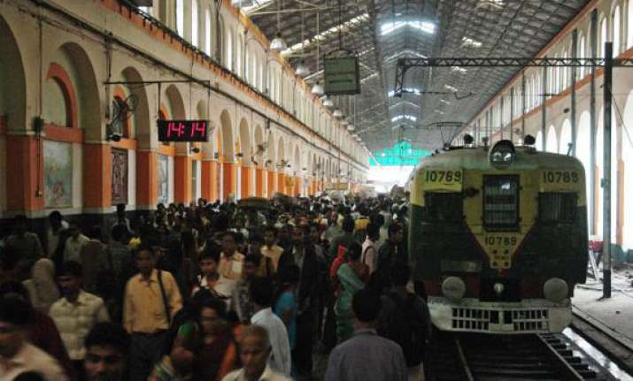 mob vandalizes property at sealdah station train services
