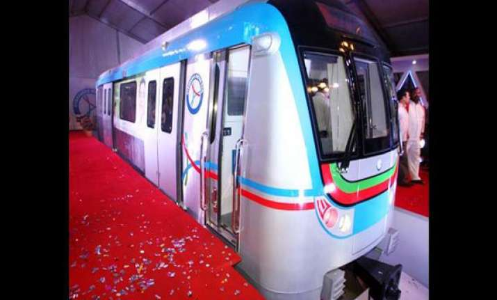 model coach of hyderabad metro unveiled