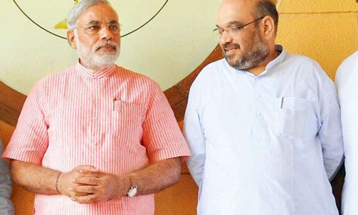 modi bids farewell to his assembly seat praises aide shah