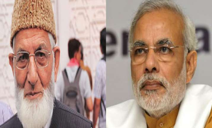 modi should accept injustices done to kashmiris says geelani
