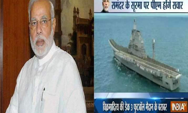 heightened security for pm s ins vikramaditya trip