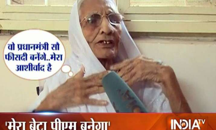 modi will definitely become the pm his mother tells india tv