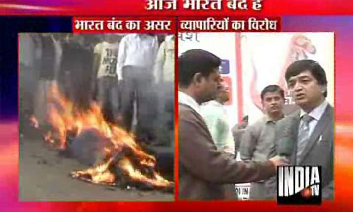 nationwide traders bandh against fdi in retail gets mixed