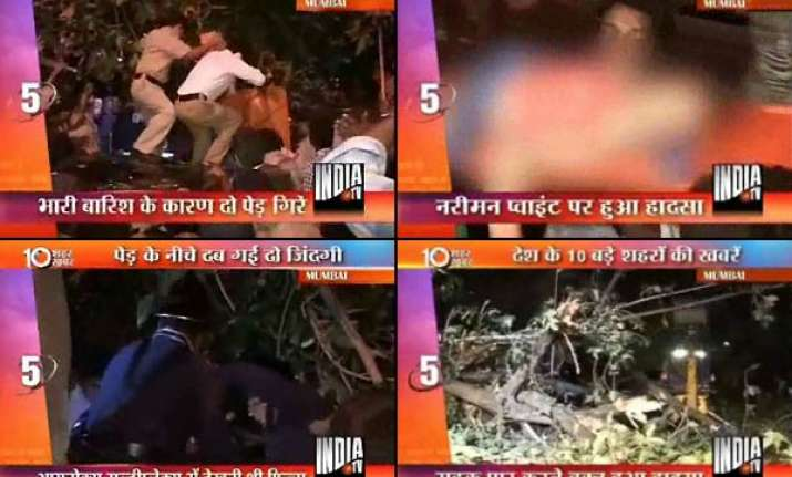 mother girl killed as tree falls in south mumbai