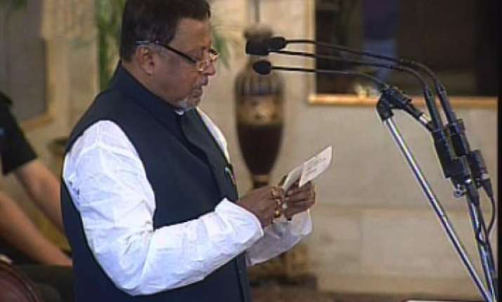 mukul roy sworn in as railway minister