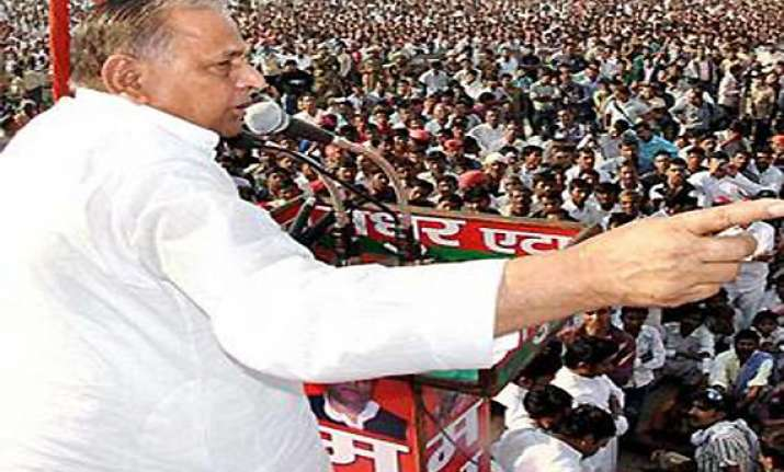 mulayam begins party s campaign with azamgarh rally