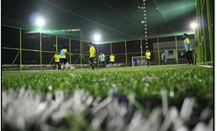 mumbai houses india s first rooftop mini football field