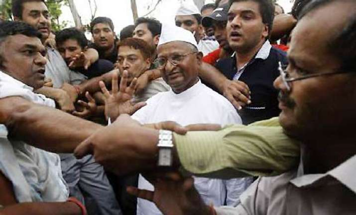 nhrc seeks report on police action on hazare supporters