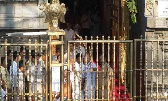 narendra modi pays obeisance at tirupati balaji temple