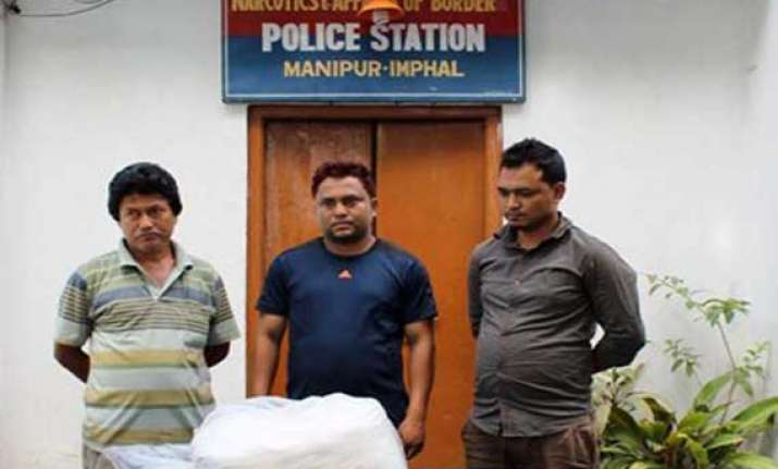 narcotic tablets seized from a person in manipur