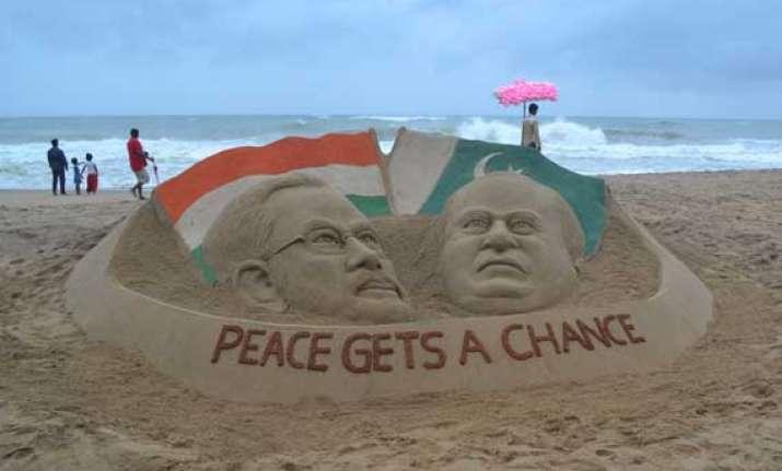 narendra modi nawaz sharif s sand sculpture at puri beach