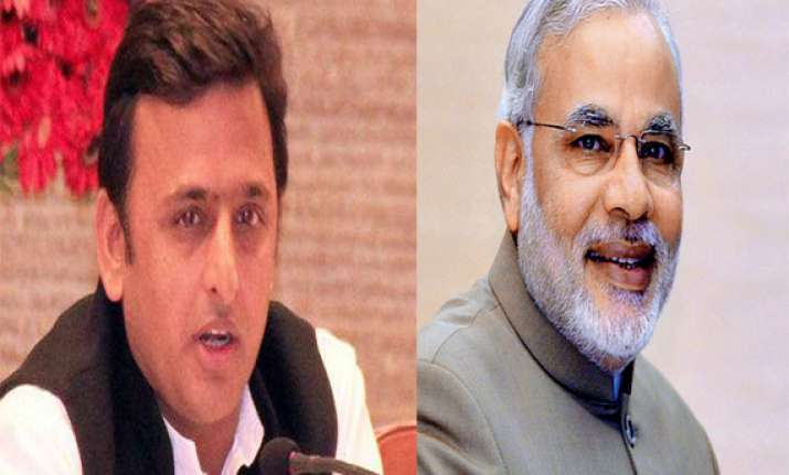 narendra modi has 56 inch belly akhilesh on modi s chest
