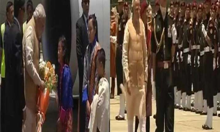 modi vows to boost b4b ties with bhutan on 1st foreign tour