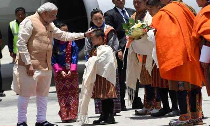 narendra modi moved by bhutanese children s song
