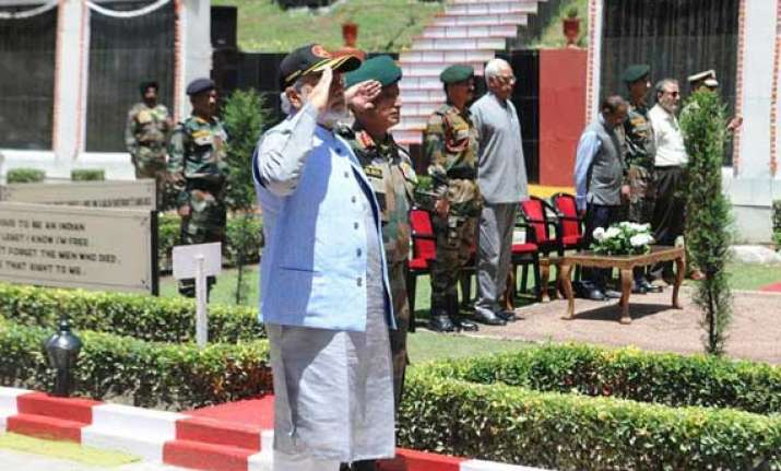 narendra modi says strong army necessary for peace