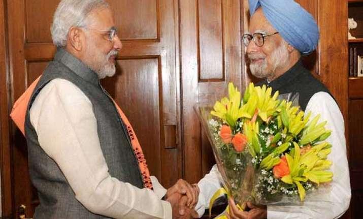 narendra modi visits manmohan singh