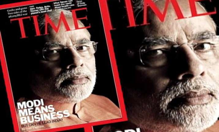 narendra modi on time cover page