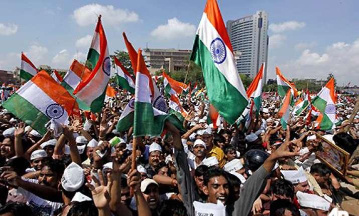 celebrations at full blast at ramlila maidan