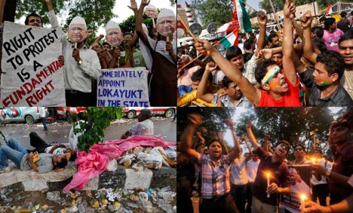 nationwide protests intensify in support of anna hazare