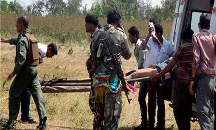naxal attack in chhattisgarh crpf official injured